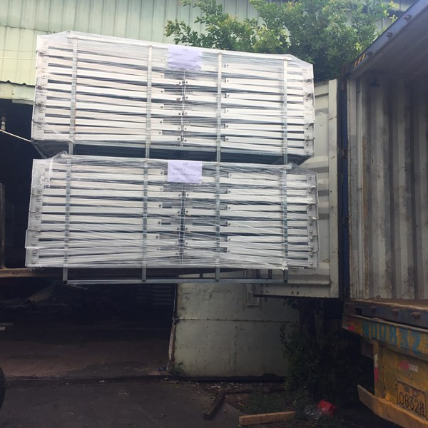 Indonesia 2.3MW ground mount structure is finished and packed into the container